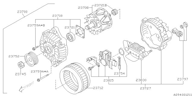 2007 Subaru Outback Alternator Subaru Parts Deal