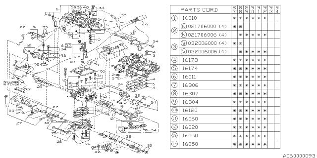 1987 Subaru Justy Carburetor - Subaru Parts DealSubaru Parts Deal