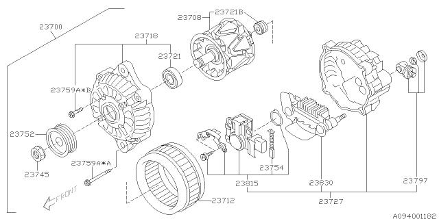 2002 Subaru Impreza Wrx Alternator Subaru Parts Deal