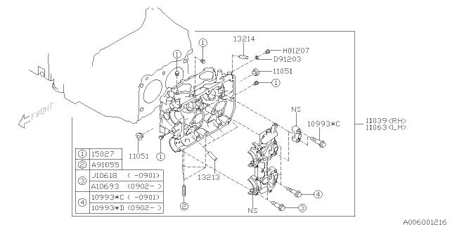 2012 Subaru Impreza Sti Cylinder Head Subaru Parts Deal