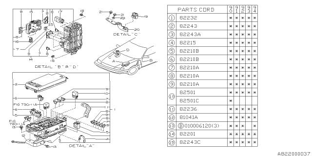 [SCHEMATICS_48IU]  1994 Subaru Legacy Fuse Box - Subaru Parts Deal | Fuse Box 1994 Subaru Legacy |  | Genuine Subaru Parts