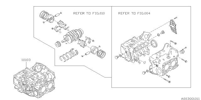 1997 Subaru Legacy Short Block Engine Subaru Parts Deal