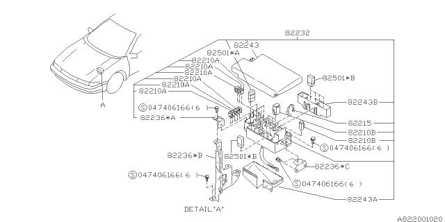 82243PA000 - Genuine Subaru FUSE BOX COVERSubaru Parts