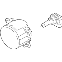 Genuine OEM Subaru Fog Lamp Assembly 84501AJ00A