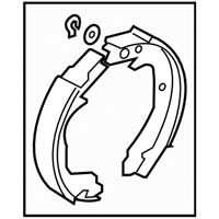 Subaru Impreza STI Parking Brake Shoe - 26694FG010
