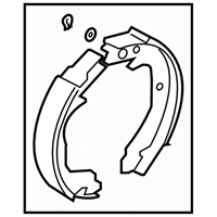 Subaru Crosstrek Parking Brake Shoe - 26694FJ001