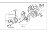 Subaru Outback Alternator Case Kit - 23727AA660