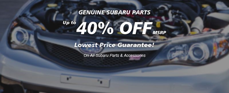 Genuine Subaru parts, Guaranteed low prices